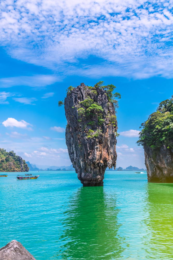 Famous James Bond Island from the movie The Man with the golden gun