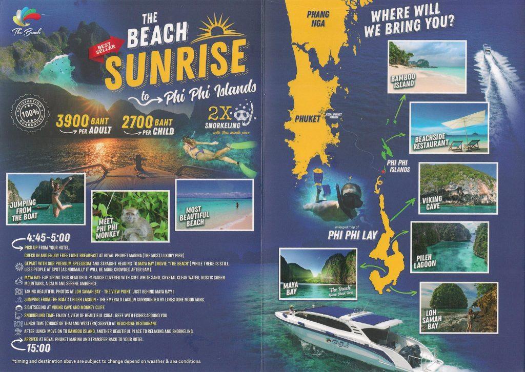 Phi Phi at Sunrise speedboat tour