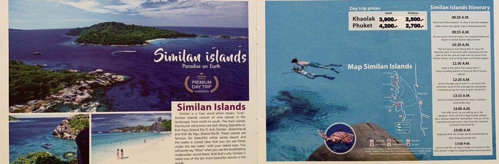 Similan Islands daytrip by speedboat