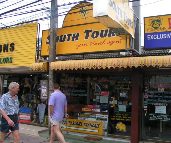 South Tours Office Patong Beach before 2008
