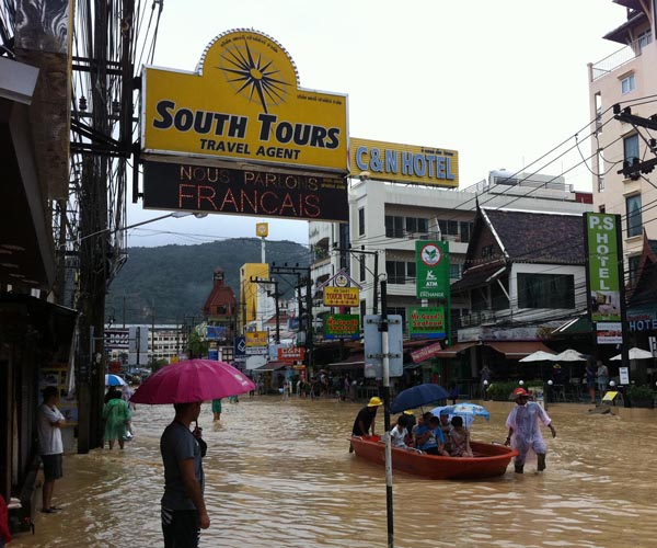South Tours Flooding September 2011 Patong Beach
